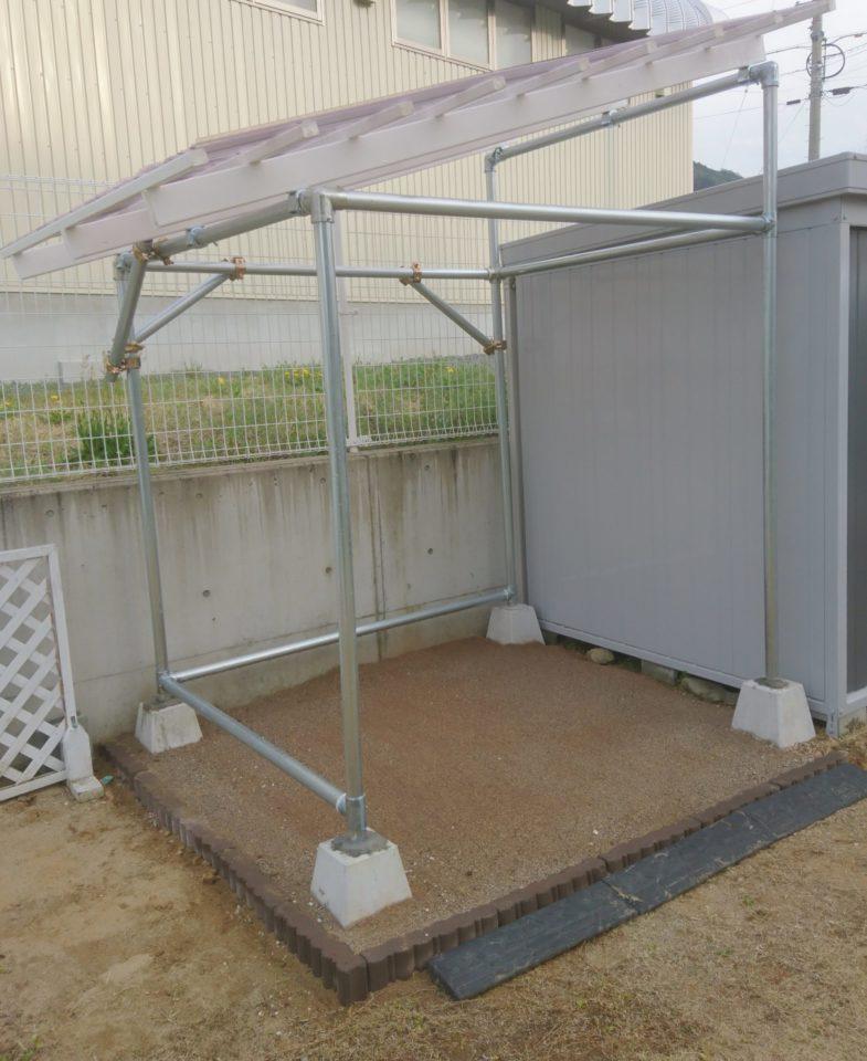 管 自転車 置き場 パイプ 単